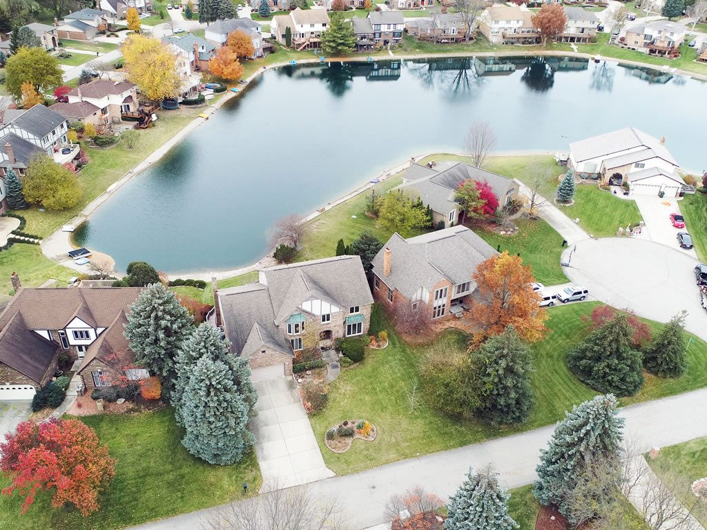drone photography for real estate in troy, MI
